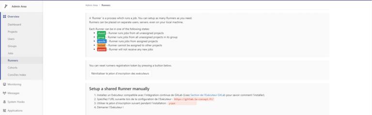 Gitlab-infos-runners