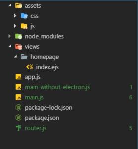 Infrastructure de l'application