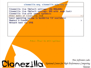 Clonezilla - Other modes
