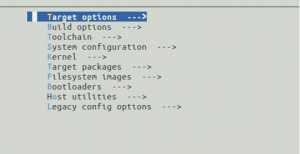 Raspberry PiB3+ - Target Options