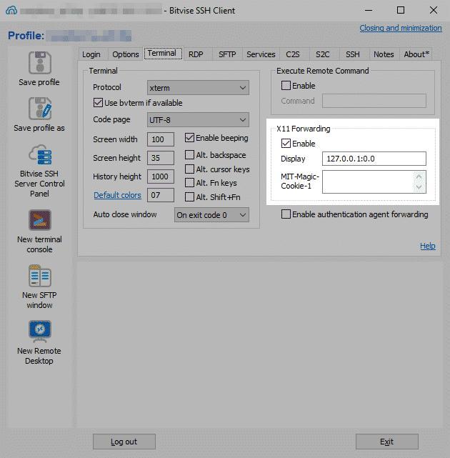 Systeme GNU/Linux - Bitvise SSH Client Forwading