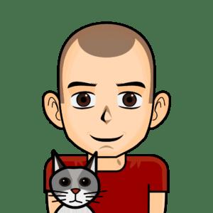 Avatar quentin et un chat sans fond zoomé