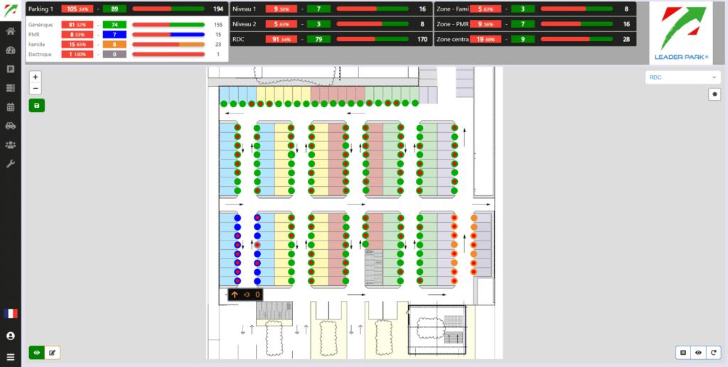 Démonstration de la map de la supervision parkings